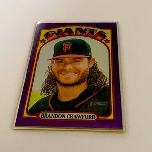 2021 heritage Brandon Crawford baseball card
